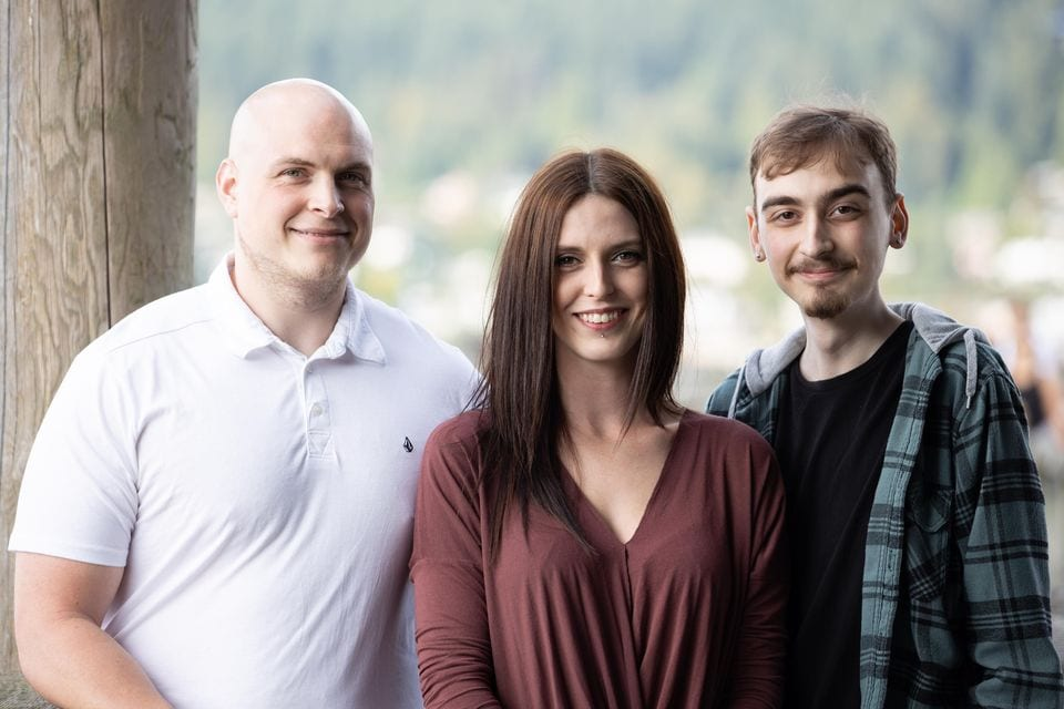 Megan and her brothers, Brad and Jake